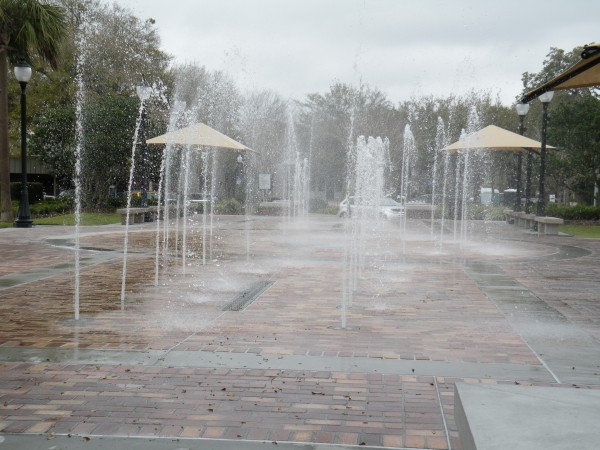 Splash pad in downtown Winter Garden Florida