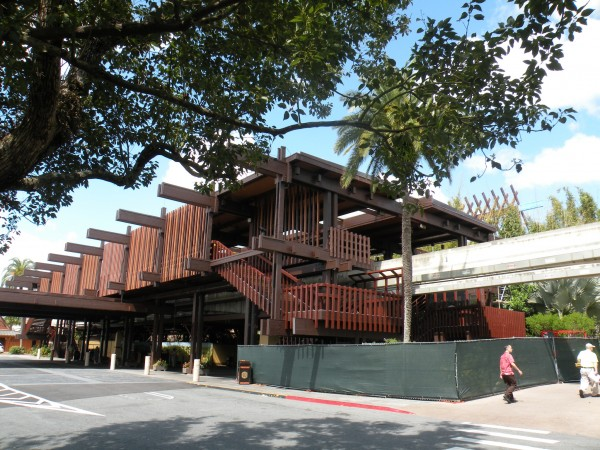 Mono-rail stop at Disney's Polynesian Resort near Orlando