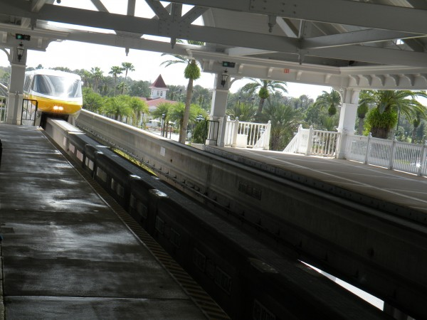 Disney Mono-rail entering the station at Disney's Grand Floridian Resort - Disney World Orlando