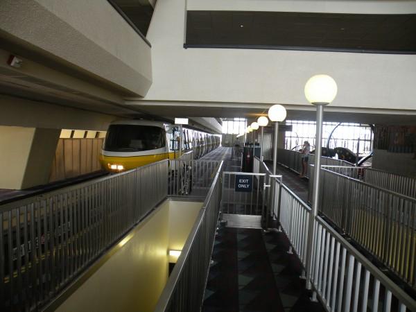 Mono rail arriving at Disney's Contemporary Resort at Disney World Orlando