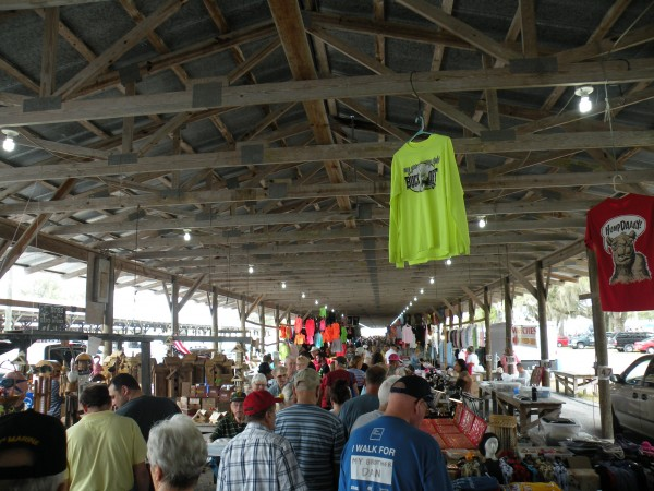 Many folks shopping for bargains at Webster's Flea Market near Orlando