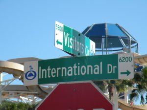 Street signs in Orlando Florida - www.orlando-florida-attractions.com