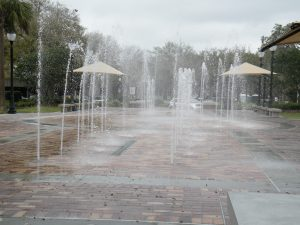 Splash pad in downtown Winter Garden Florida
