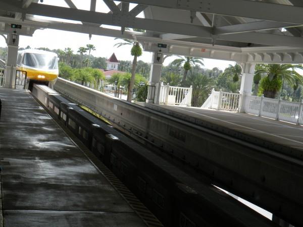 Disney Mono-rail entering the station at Disney's Grand Floridian Resort - Disney World Orlando